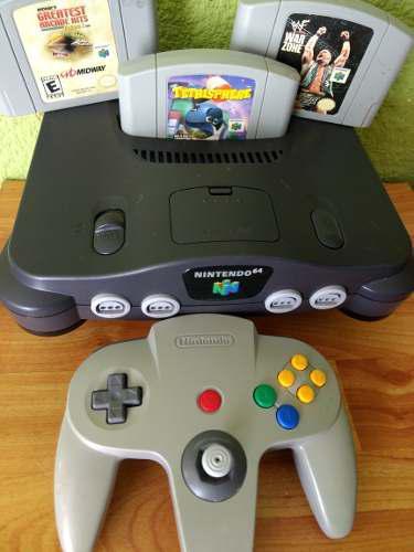 Nintendo 64 Videojuego Consola Con 3 Juegos Garantía