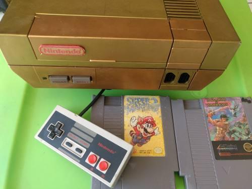Nintendo Nes Videojuego Cartucho Y Consola Mario 3