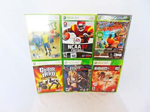 Pack De 6 Videojuegos De Xbox 360 Originales