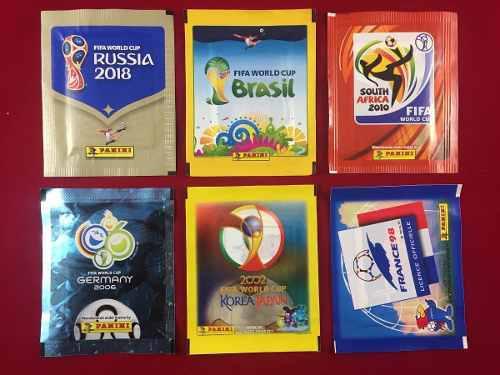Panini Mundial 2018, 2014, 2010, 2006, 2002, 98. 6 Sobres