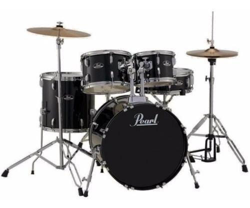 Pearl Roadshow Bateria Acustica 5pcs Completa Color Negro!!!