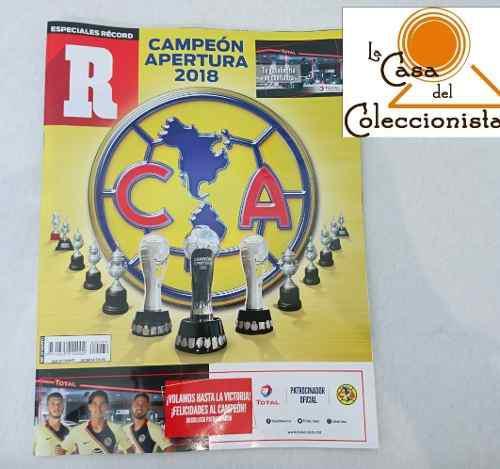 Record America Campeón Apertura 2018 Revista Conmemorativa