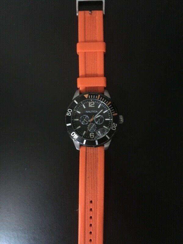 Reloj náutica color anaranjado