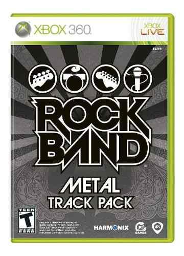 Rock Band Metal Track Packusado Para Xbox 360 Blakhelmet C
