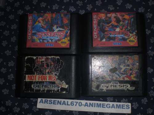 Sega Genesis Street Of Rage 1 Y 2