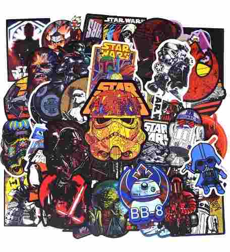 Set 50 Stickers Calcomanias Sin Repetir De Star Wars Selc A