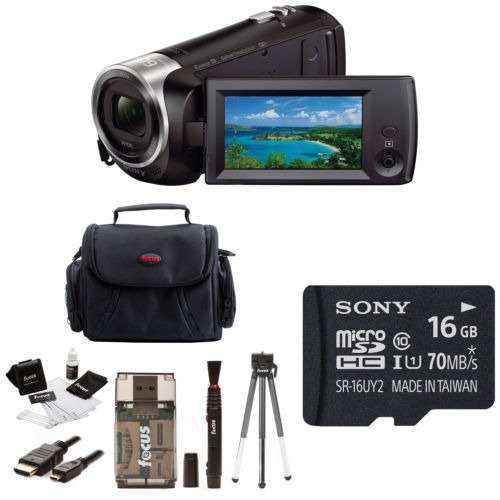 Sony Hdr-cx440/b Full Hd 60p Videocámara Con Paquete De