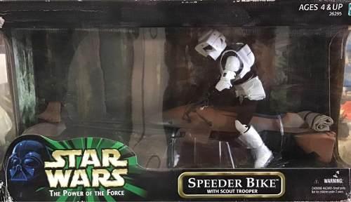 Star Wars Power Of The Force Speeder Bike & Scout Trooper 12