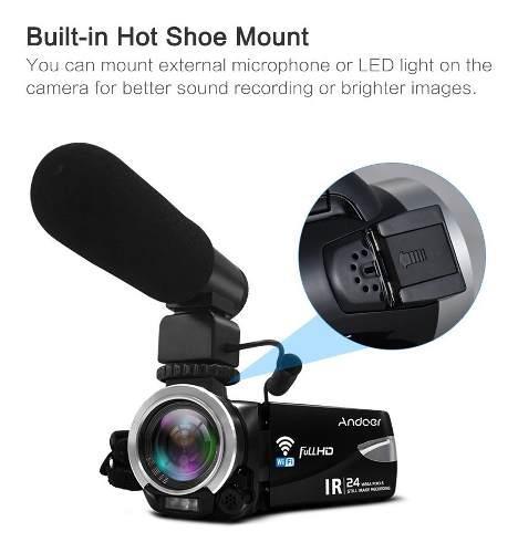 Videocamara Digital Andoer 1080p Fhd 24m Wifi