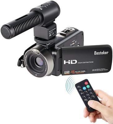 Videocámara, Besteker Fhd Videocámaras Con 1080p Externo
