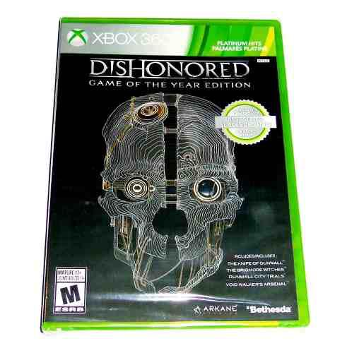 Videojuego Dishonored Goty Xbox 360 Fisico Nuevo Sellado