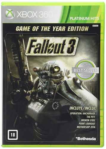 Xbox 360 Juego Fallout 3 Game Of The Year + Envío Gratis