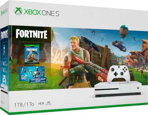 Xbox Consola One S 1tb Fortnite Ultra Hd 4k Videojuego Niño