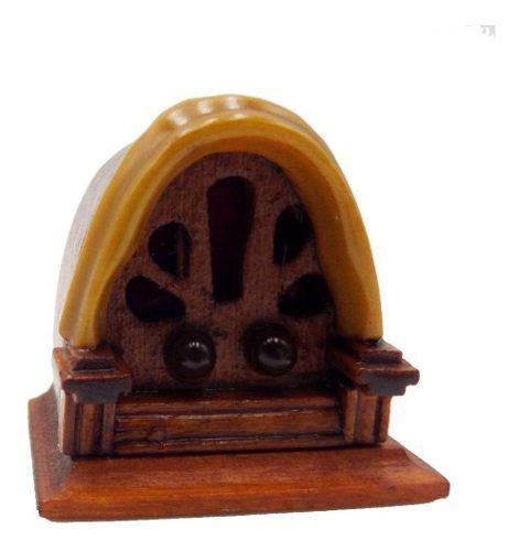 1/12 Casa De Muñecas En Miniatura Muebles Radio Dormitorio