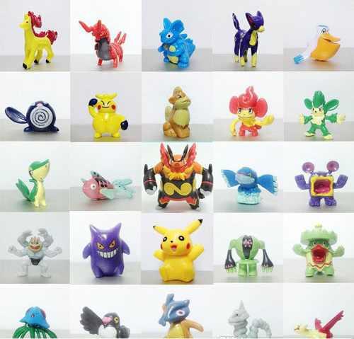 24 Figuras De Pokemon Coleccionables - Entrega Inmediata !!!