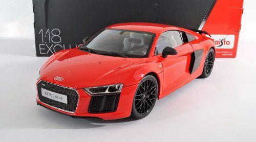 Audi R8 V10 Plus Rojo Escala 1:18 Maisto Exclusive
