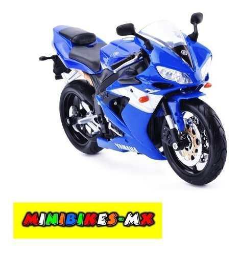 Azul Moto De Colección Yamaha Yzf R1 Escala 1:12 Maisto