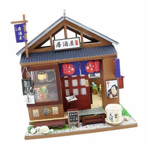 Casa De Muñecas En Miniatura Bricolaje Estilo Japonés Lit