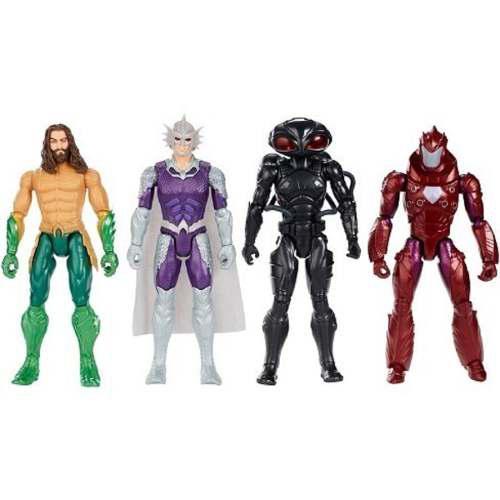 Dc Comics Set Aquaman Orm Black Manta & General Murk Mattel