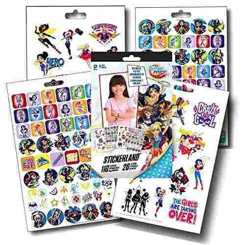 Dc Comics Super Hero Girls Fun Set Pegatinas De Superhero Gi