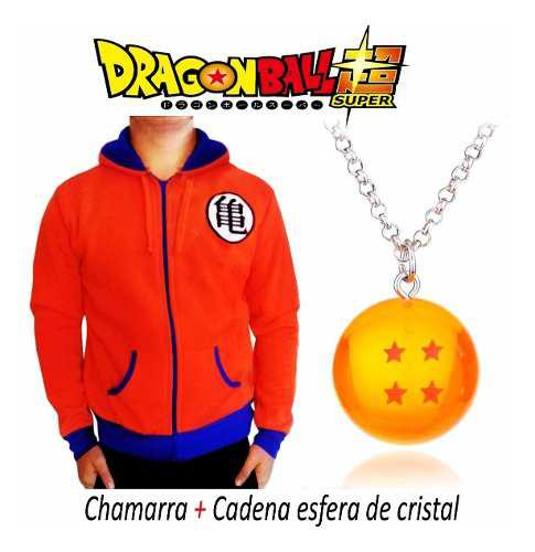 Dragon Ball Chamarra Super Goku Z Collar Esfera Del Dragon