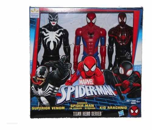 Figuras De Acción 3 Pack Venom Spider-man Niño Arácnido