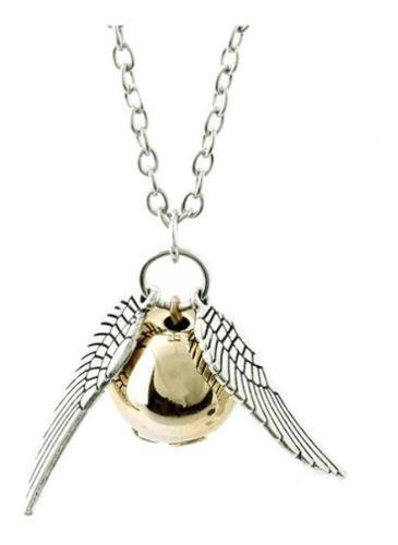 Harry Potter Collar Snitch Dorado O Plateado