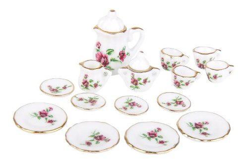 Hermoso Juego De Te Miniatura Porcelana Fina Austria Delicat