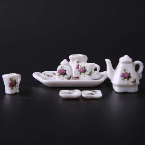 Hermoso Juego De Te Miniatura Porcelana Fina M Baron Service