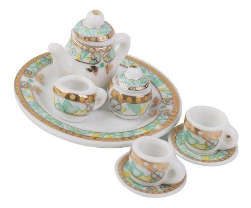Hermoso Juego De Te Miniatura Porcelana Fina Persan Service