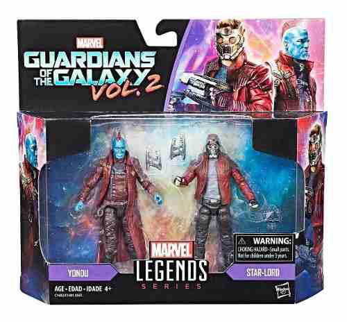 Marvel Legends Guardianes Galaxia 2 Pack Yondú Star Lord