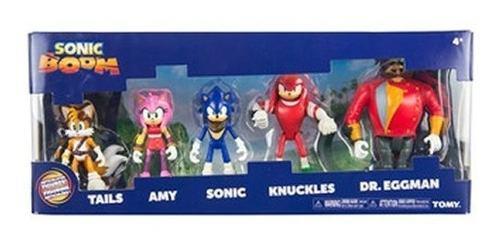 Pack 5 Muñecos Sonic Boom Figuras De Acción Tomy 2018