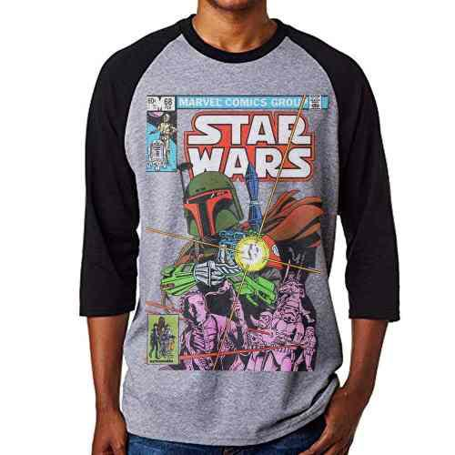 Playera Star Wars Boba Fett Marvel Comics 68 Manga 3/4 $299