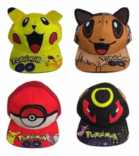 Pokemon Go Gorra Pikachu Pokebola Eevee Super Precio Oferta!