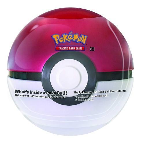 Pokémon Tcg - Pokeball Tin Lata - Pokebolas - 11cms