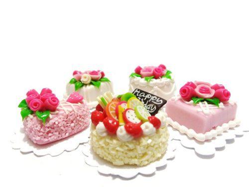 Set S2 Geniales Pasteles Miniatura Para Casa De Muñeca