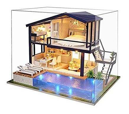 Spilay Bricolaje Casa De Muñecas En Miniatura Kit De