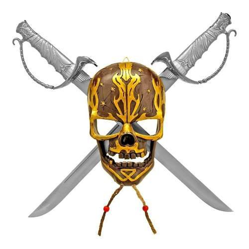 Calavera Pirata Con Cuchillas Cruzadas De 50 Cm