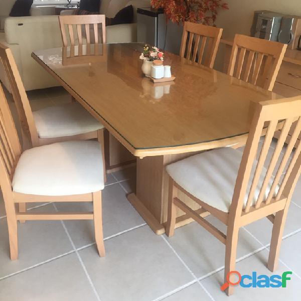 """""""Comedor 6 sillas y Mesa, incluye vidrio"""""""