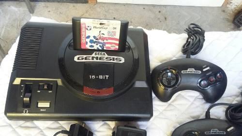 Consola Sega Genesis 16 Bits Con 3 Juegos