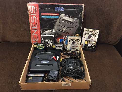 Consola Sega Genesis 2 Con Caja 2 Controles Y 4 Juegos