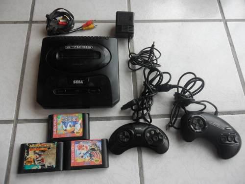 Consola Sega Genesis Avi + 3 Juegos Street Fighter Y Sonic
