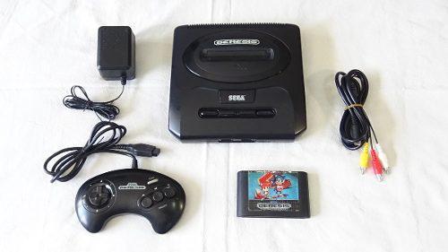 Consola Sega Genesis Slim Mk-1631 Completa Con Juego Sonic 2