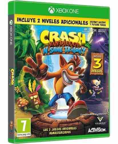 Crash Bandicoot Nsane Trilogy Xbox One Nuevo Sellado Fisico