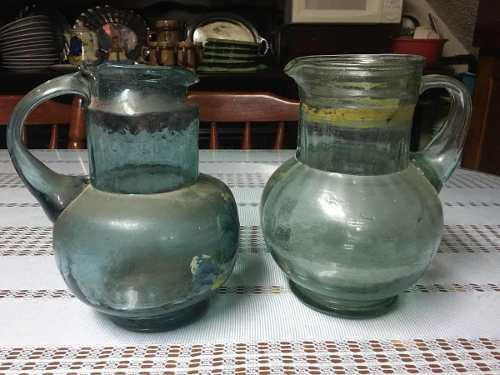 Jarras De Vidrio Antiguas - Excelentes Piezas -envió Gratis