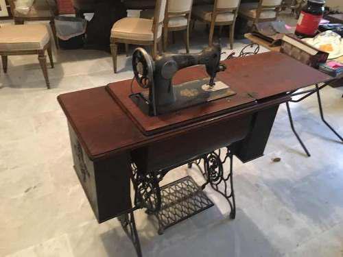 Maquina De Coser Singer Antigua Con Mueble Y Factura Origina