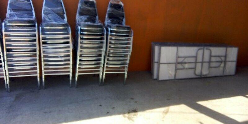 Paquete En Oferta 100 sillas cromadas ultra y 10 mesas