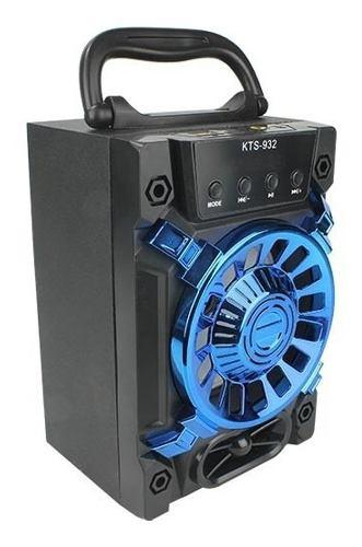 Potente Bocina Recargable Bluetooth Fm Usb Tf Aux Kts-932