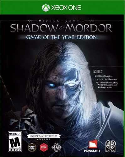 Shadow Of Mordor Game Of The Year Edition Xbox One Nuevo