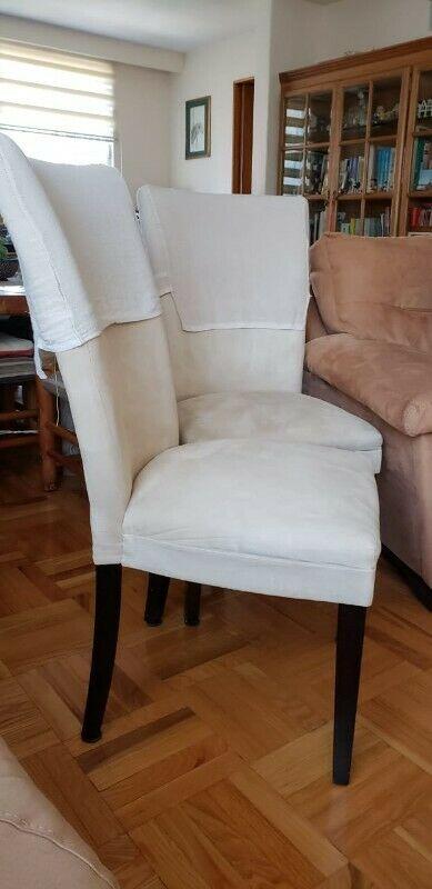 Sillas importadas de caoba y tapiceria tela suede en